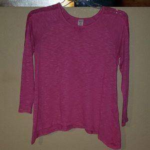 Girls Pink Long Sleeved Top